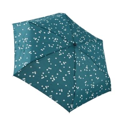 HUS草綠小白花抗UV迷你口袋傘