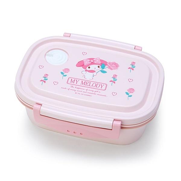 小禮堂 美樂蒂 日製 輕量型微波便當盒 塑膠便當盒 保鮮盒 550ml (粉 玫瑰) 4550337-74767