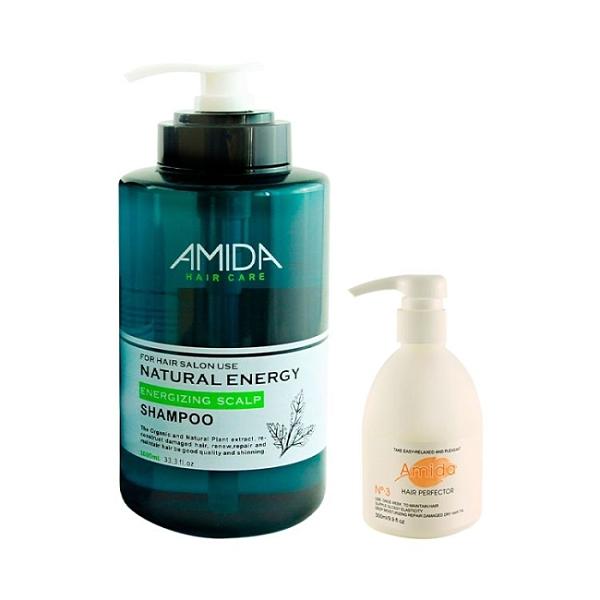 AMIDA蜜拉平衡洗髮精1000ML+深層結構護髮300ML