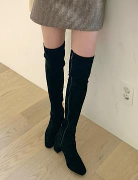 韓國空運 - Slim Suede Knee High Long Boots 靴子