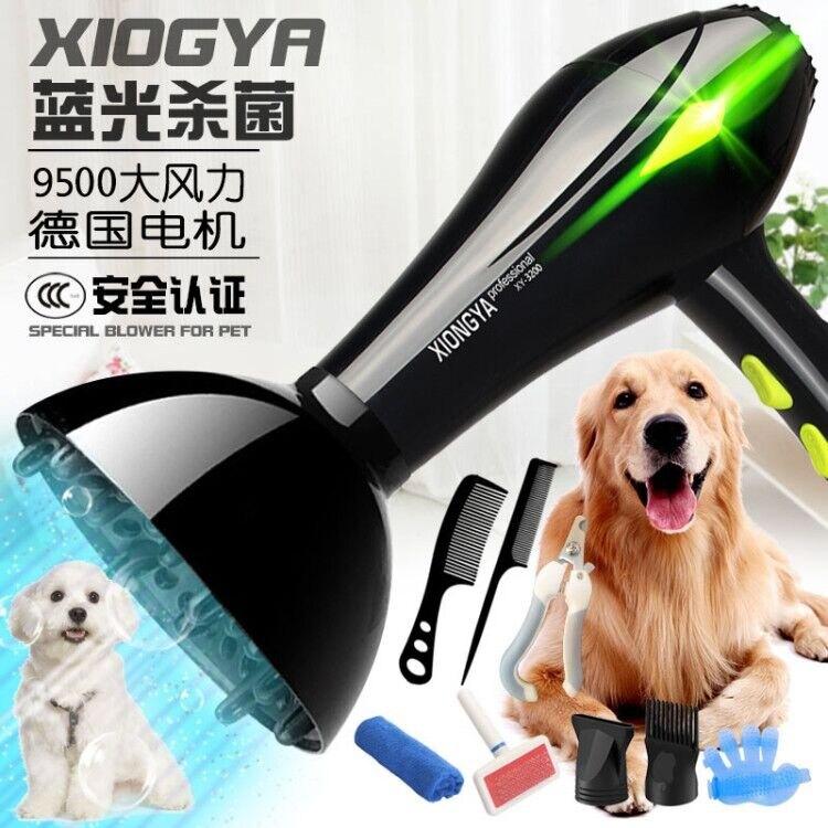 寵物吹風機 德國寵物吹風機大功率狗狗專用吹毛神器金毛泰迪小型大型犬吹水機 多色小屋 交換禮物