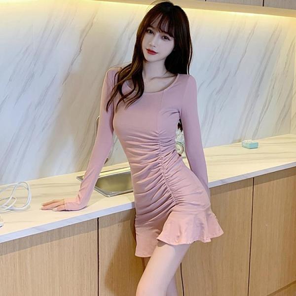 緊身洋裝 氣質連身裙女神范2021年秋冬新款衣服夜店性感夜總會夜場緊身裙子 芊墨 618大促