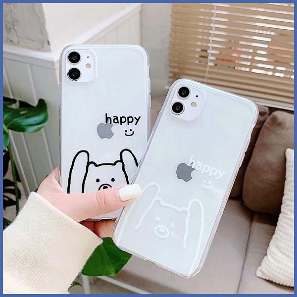 蘋果 iPhone 12 Pro Max 12 Mini i11 Pro Max XR XS MAX iX i8+i7+SE 白熊黑皮 手機殼 全包邊 軟殼 保護殼
