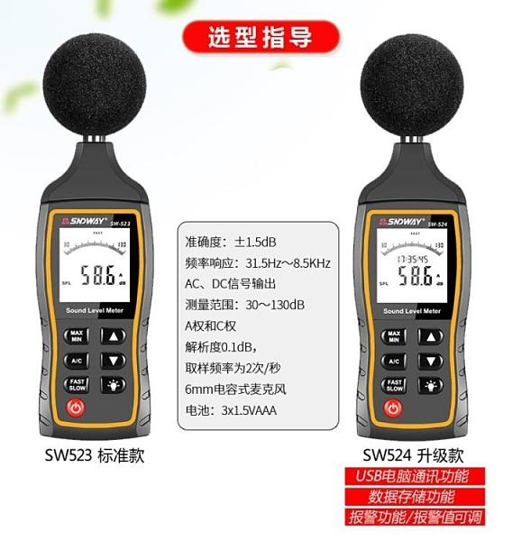 分貝檢測儀 深達威數字噪音計分貝測量儀聲級計噪聲分貝測試儀帶報警USB通訊