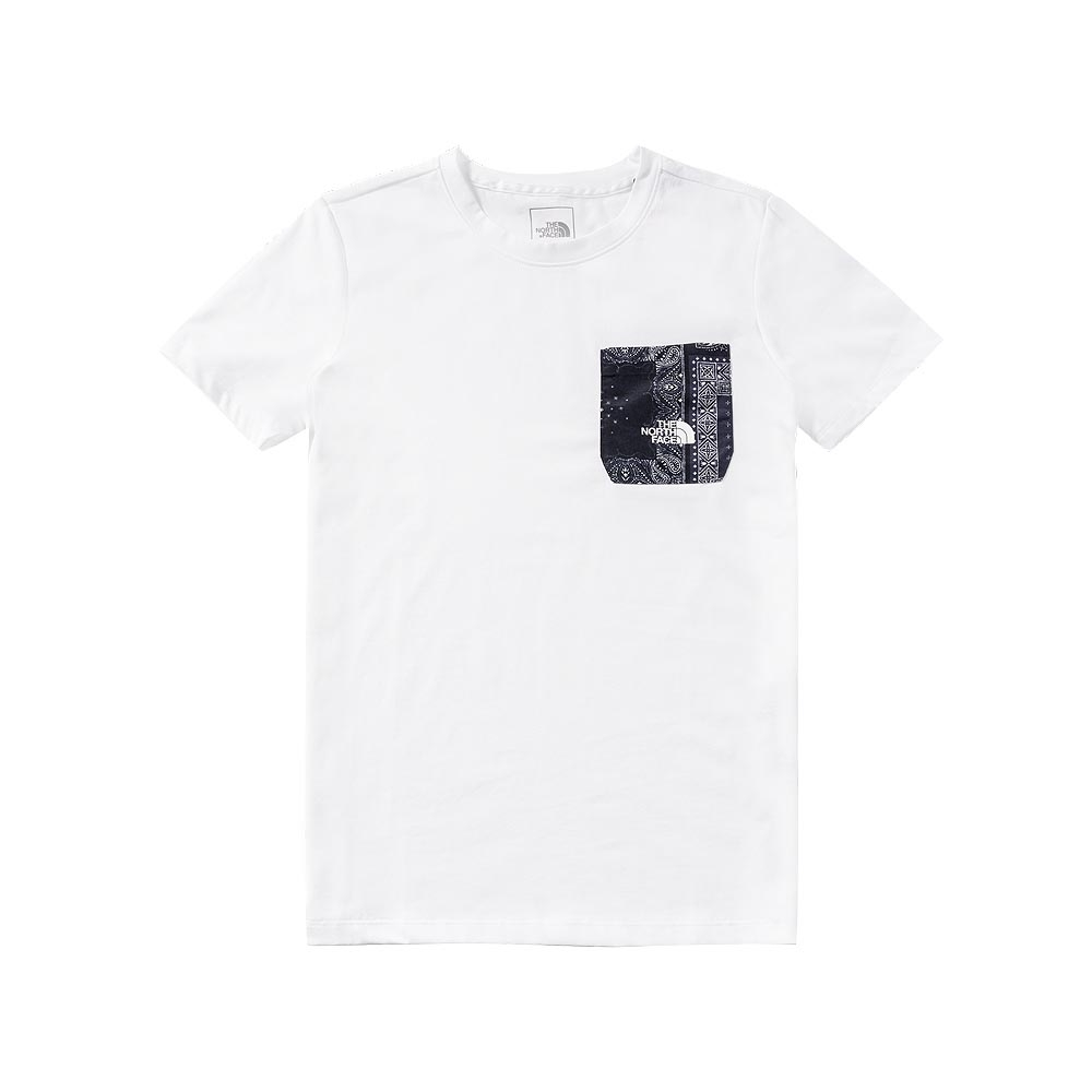 The North Face 男 吸濕排汗短袖上衣 白色