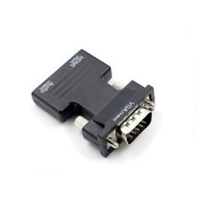 KYN轉接頭 HDMI母轉VGA公帶音頻 HDMI轉VGA電腦電視筆電投影機 高清轉換器接頭