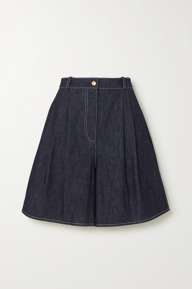 Emilia Wickstead - Roger 牛仔短裤 - 蓝色 - UK8