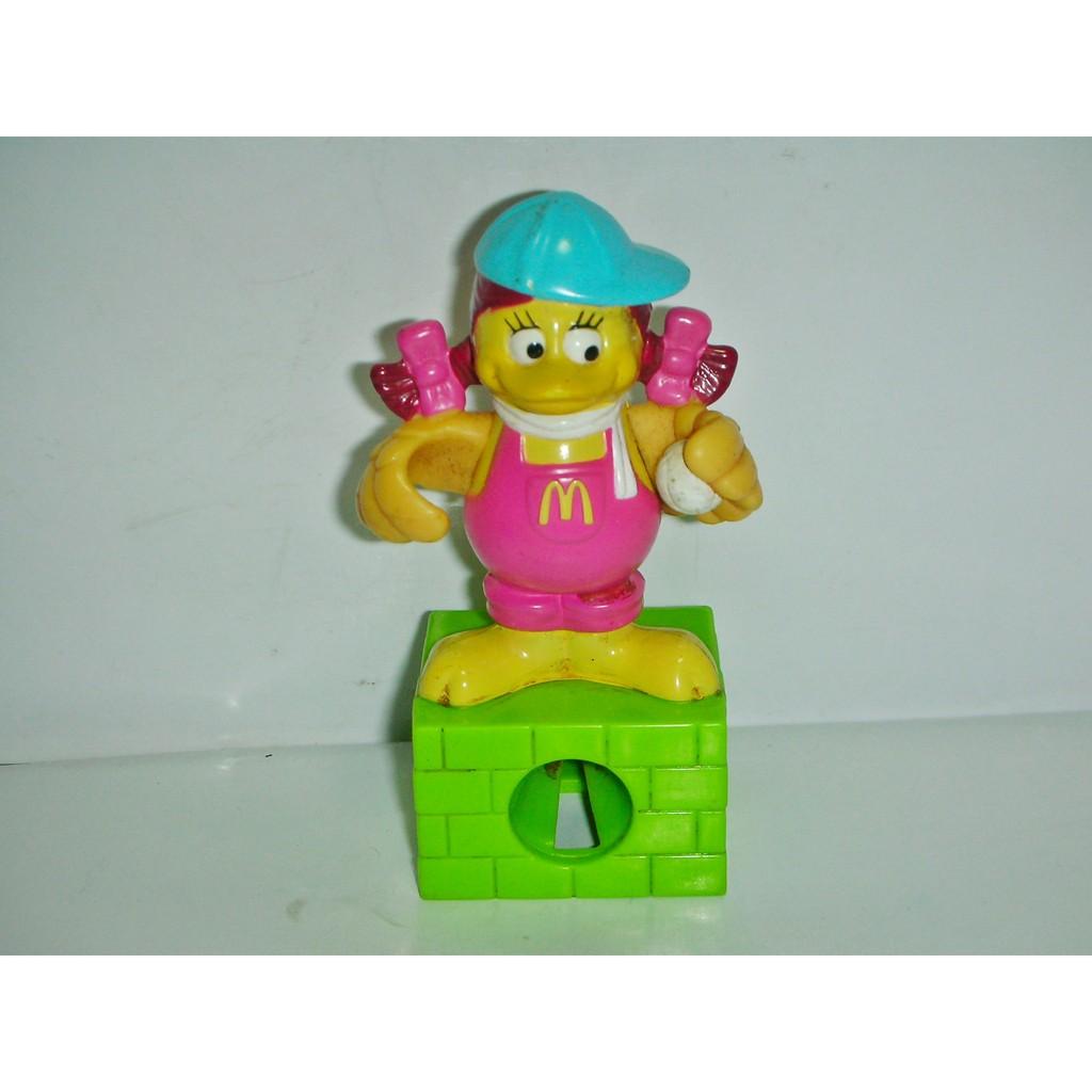 aaL皮.(企業寶寶玩偶娃娃)少見1998年麥當勞發行文具百寶屋-大鳥姐姐削筆機--距今已有22年的歷史