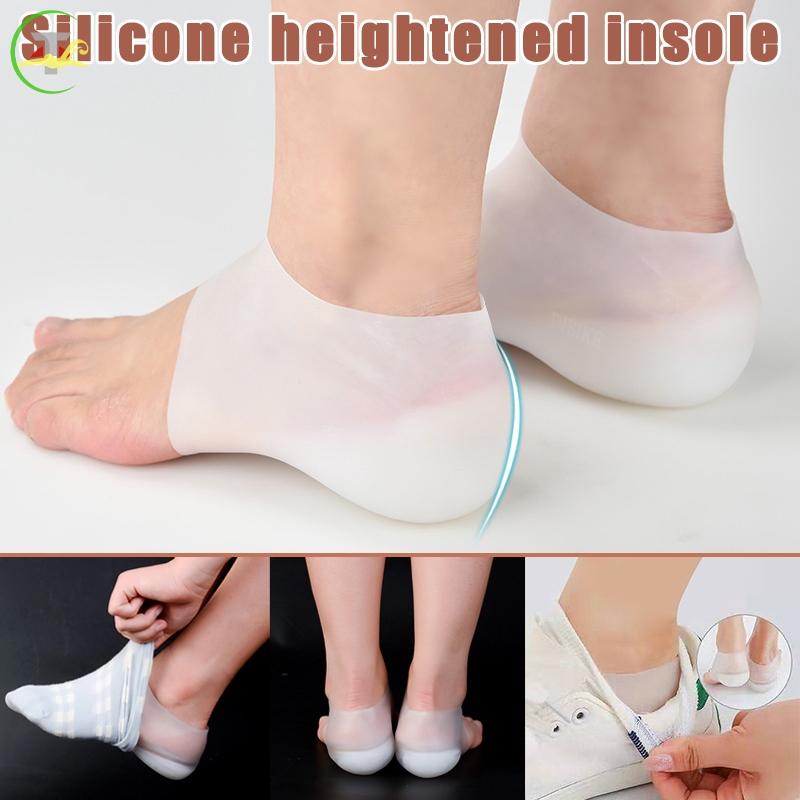TG 1對隱形增高腳跟墊襪子襯裡增加了鞋墊女性男性的緩解疼痛@my