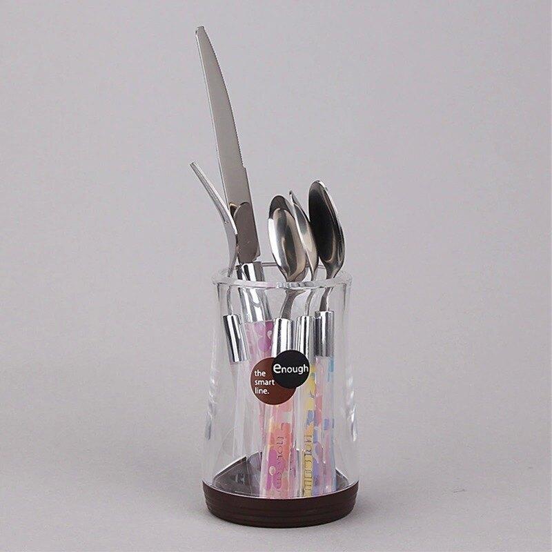 創意家用筷筒筷子筒桶筷架 韓式裝放勺刀叉收納盒快籠簍架捅筷籃