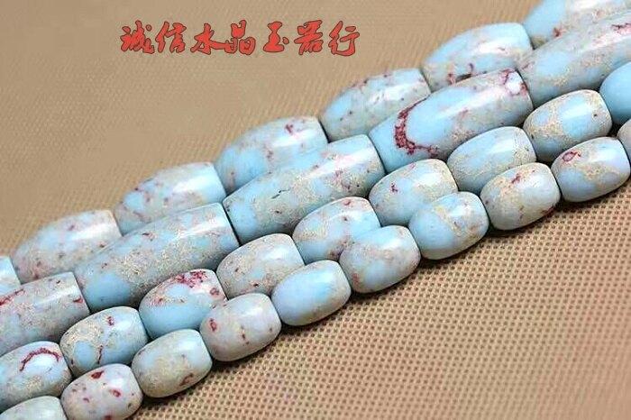天然水晶飾品壽山石桶珠半成品手鏈 佛珠diy飾品配件