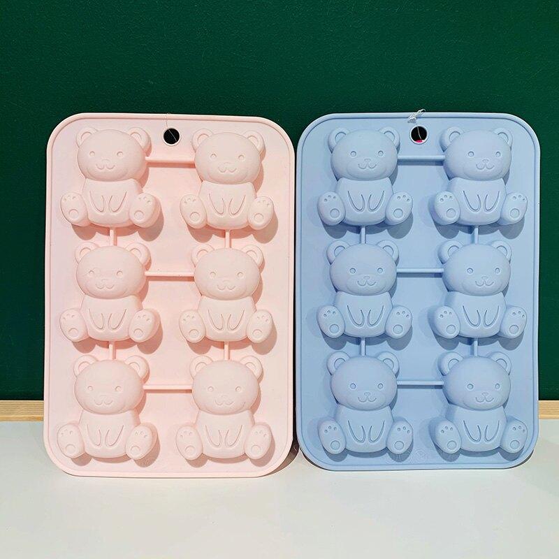 大創DAISO 小熊米奇造型加厚硅膠輔食凍冰格面包蛋糕烘焙模具