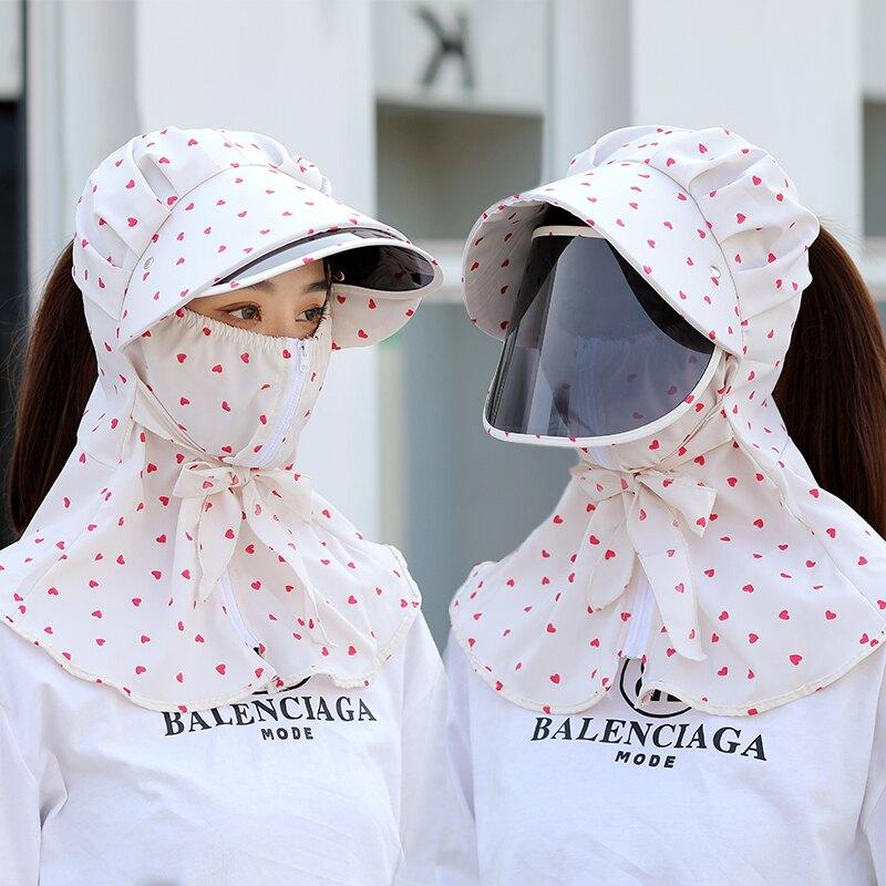 防曬帽女遮臉防紫外線洋氣夏季全臉大沿遮陽太陽帽騎車干農活涼帽