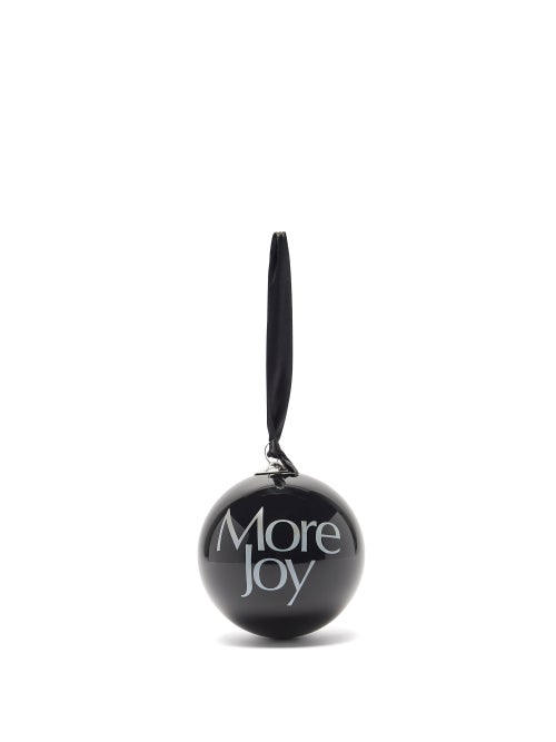 More Joy By Christopher Kane - More Joy Glass Bauble - Black