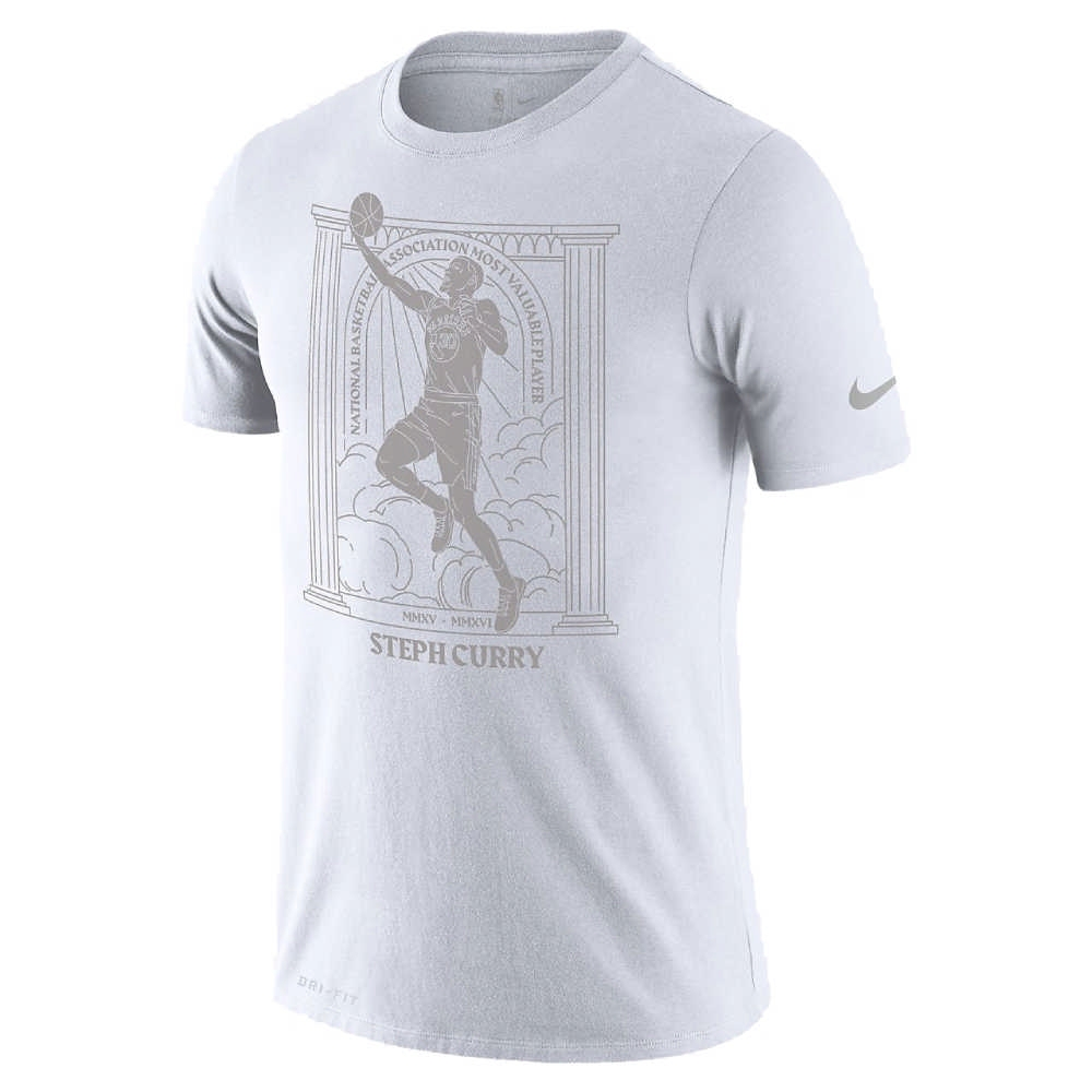 NIKE NBA MVP 圖案 短袖T恤 勇士隊 Stephen Curry 白色