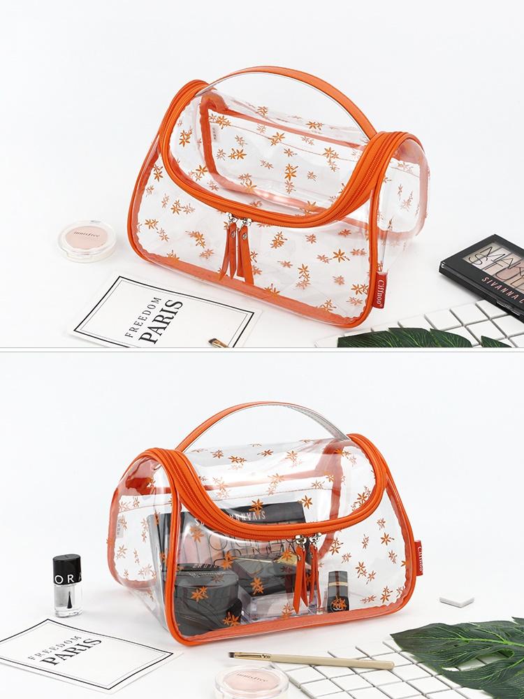 透明pvc洗澡堂防水洗漱包外出旅游裝備女隨身日常生活用品收納袋