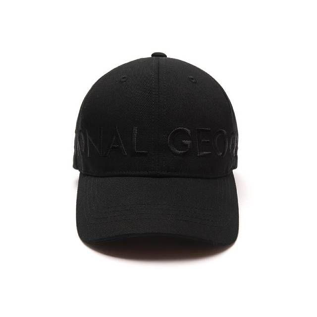 National Geographic MEGA LOGO BALL CAP 休閒帽 黑