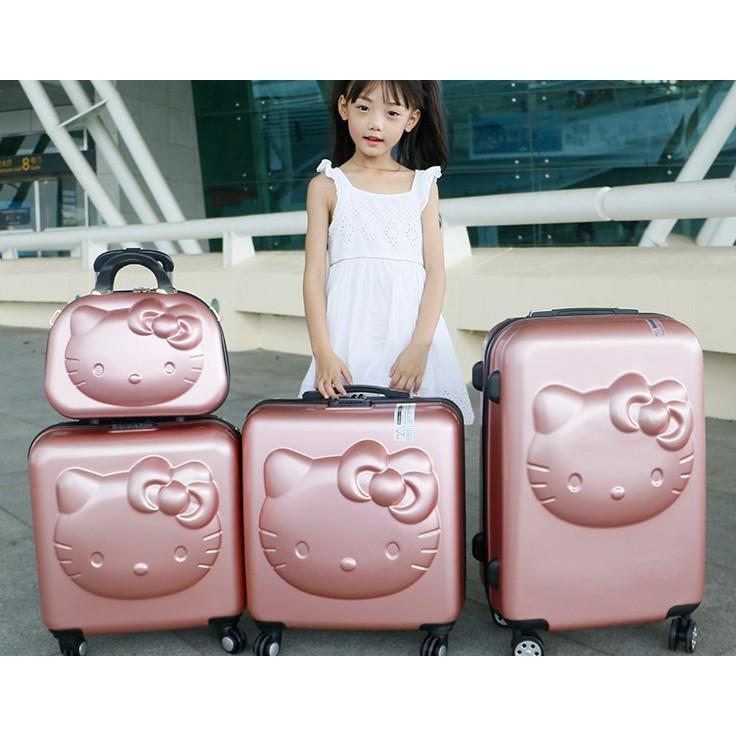 【花田美居】兒童拉杆箱行李箱女20寸萬向輪密碼皮箱子母箱可愛公主女童旅行箱