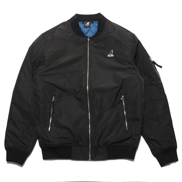 KANGOL 外套 黑色 飛行外套 側肩拉鍊 男 (布魯克林) 6055146020