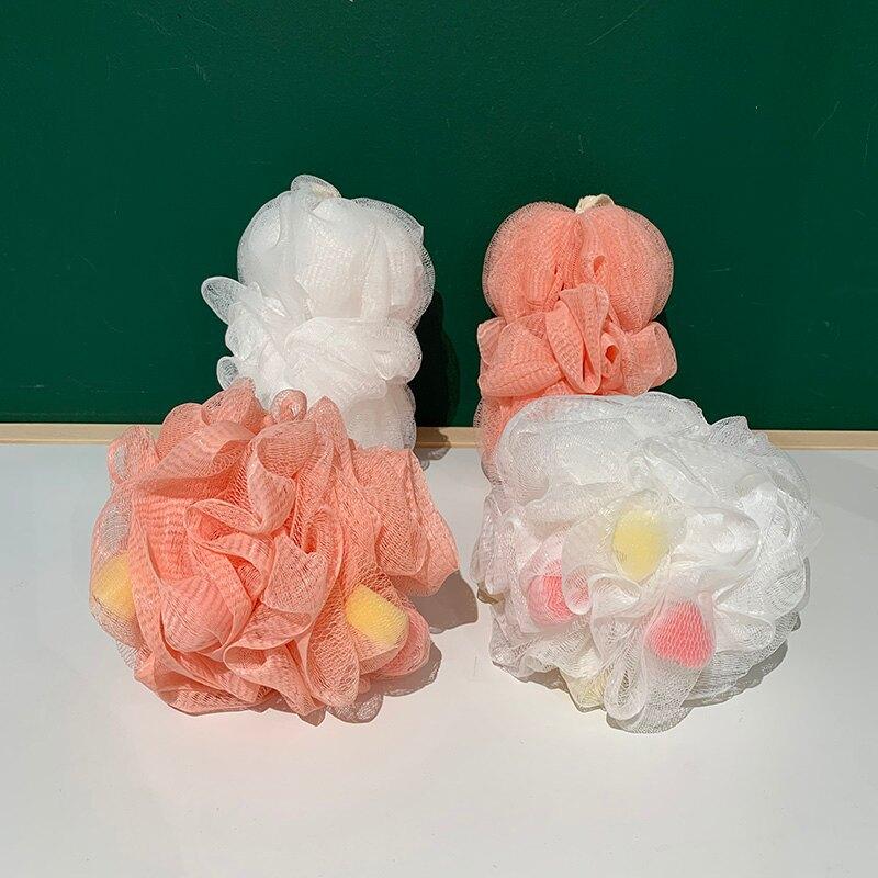 彩色愛心泡泡 SwanLace好物 心形海綿球形長形起泡網擦背浴球浴花