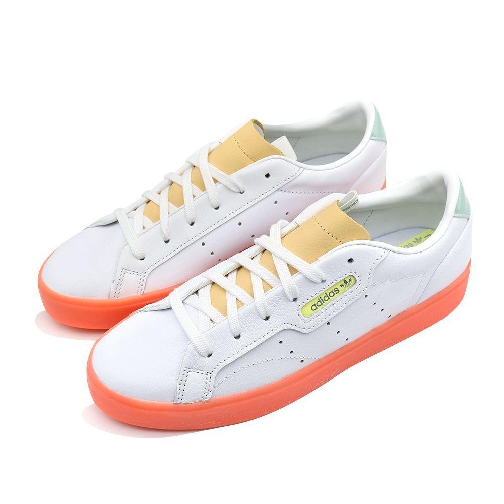 ADIDAS SLEEK 女 休閒鞋 白橘
