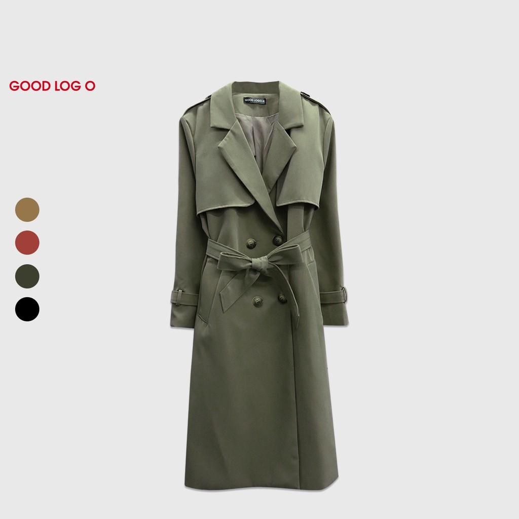 GOOD LOG O 雙排釦 綁帶 大衣 外套 附腰帶 ESH-9530