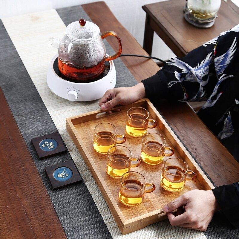 遠舍玻璃蒸茶壺家用耐熱加厚蒸汽煮茶壺燒水壺電陶爐煮茶器泡茶壺