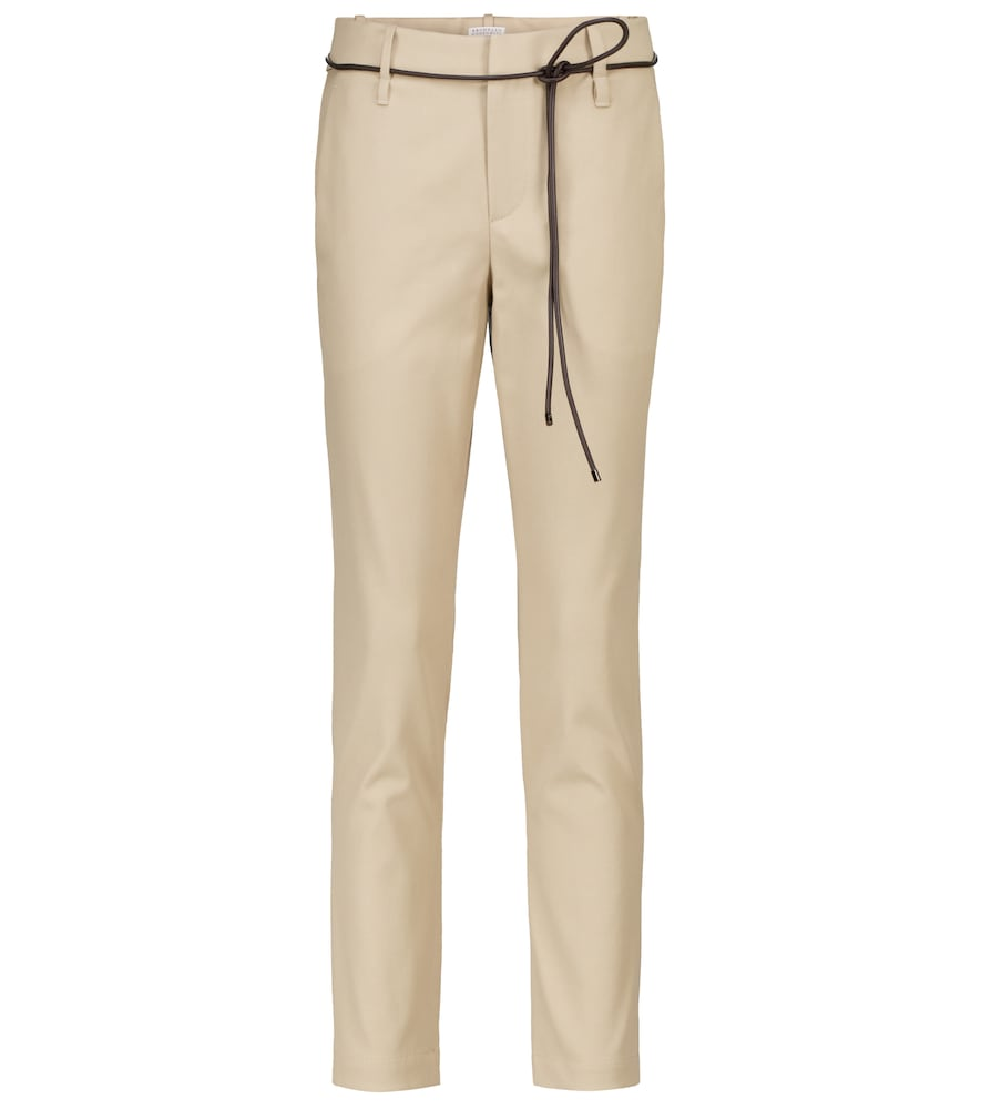 Stretch-cotton cigarette pants