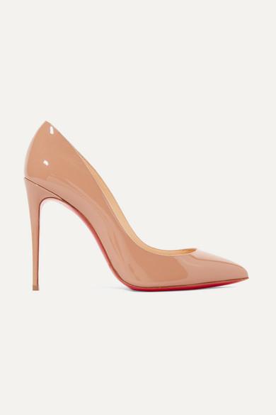 Christian Louboutin - Pigalle Follies 100 漆皮高跟鞋 - 中性色 - IT35.5