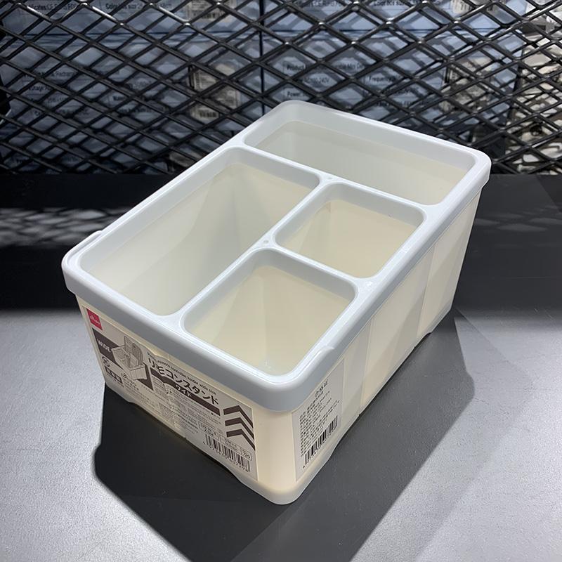 制 大創Daiso多格六邊牙刷瀝水架遙控器茶幾雜物桌面收納盒