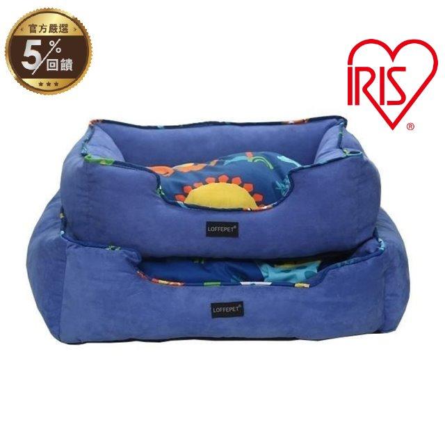 日本IRIS寵物睡床睡窩-方窩LFBS-M號 藍/粉 兩色可選 犬貓適用【LINE 官方嚴選】