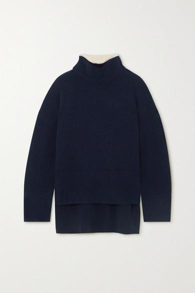 FRAME - 羊毛混纺高领毛衣 - 海军蓝 - x small
