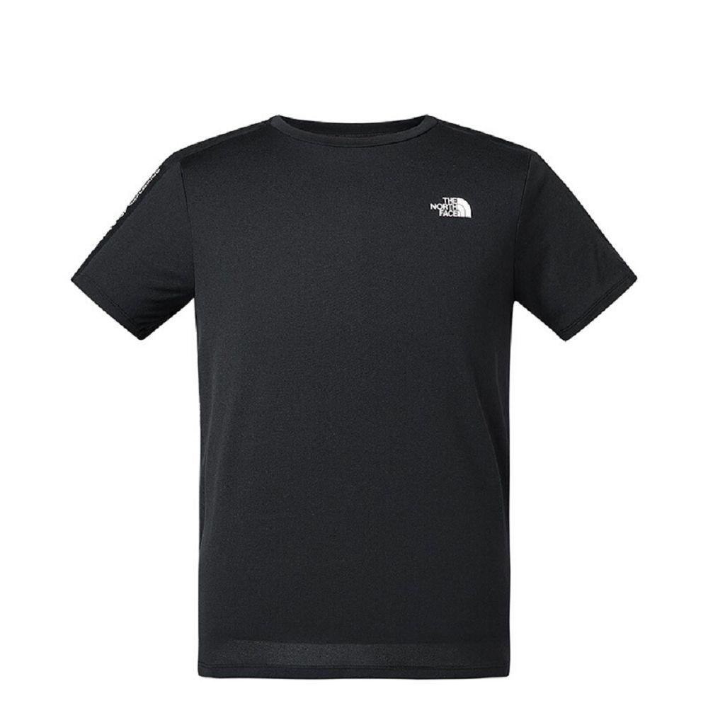 The North Face 男 吸濕排汗短袖上衣 黑色