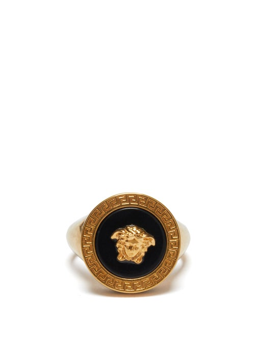 Versace - Medusa-logo Signet Ring - Mens - Gold