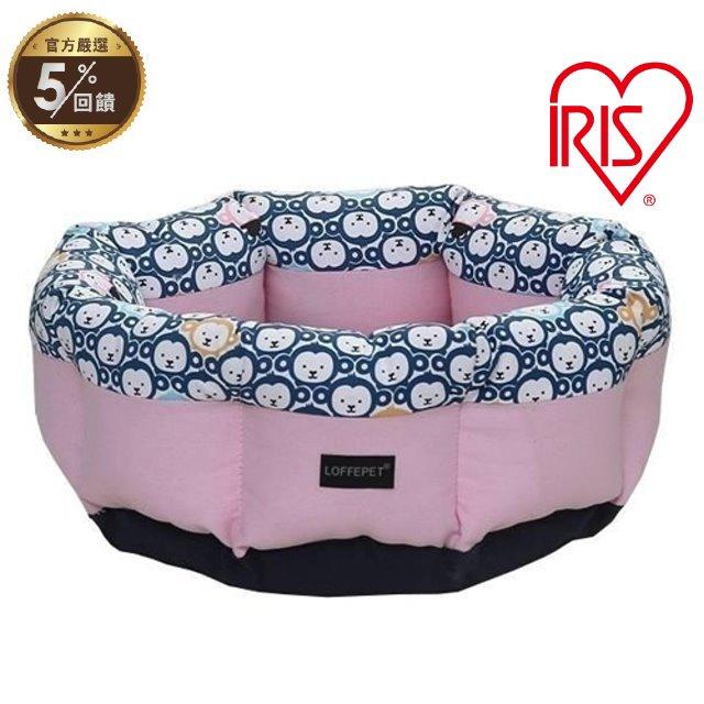 日本IRIS寵物睡床睡窩-圓窩LFB-M號 藍/粉 兩色可選 犬貓適用【LINE 官方嚴選】