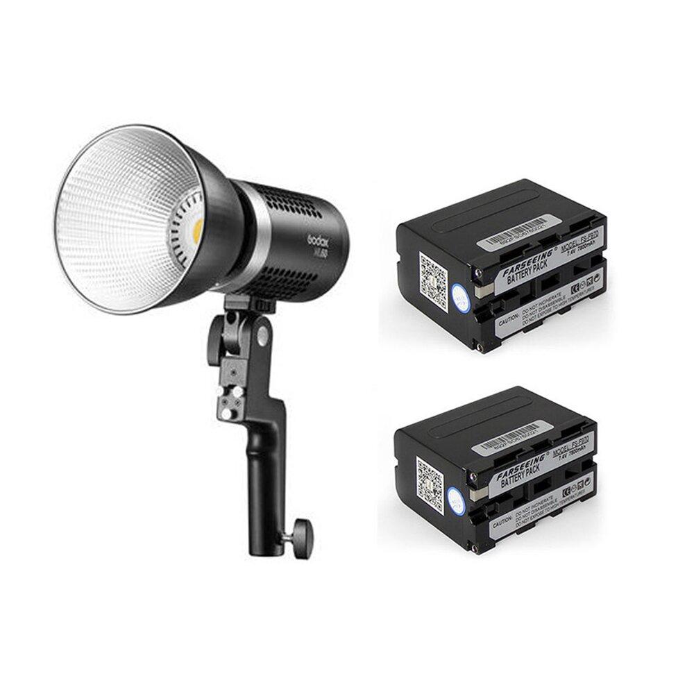 GODOX 神牛 ML60 60W 白光 攝影燈+F970 電池x2 套組(公司貨)