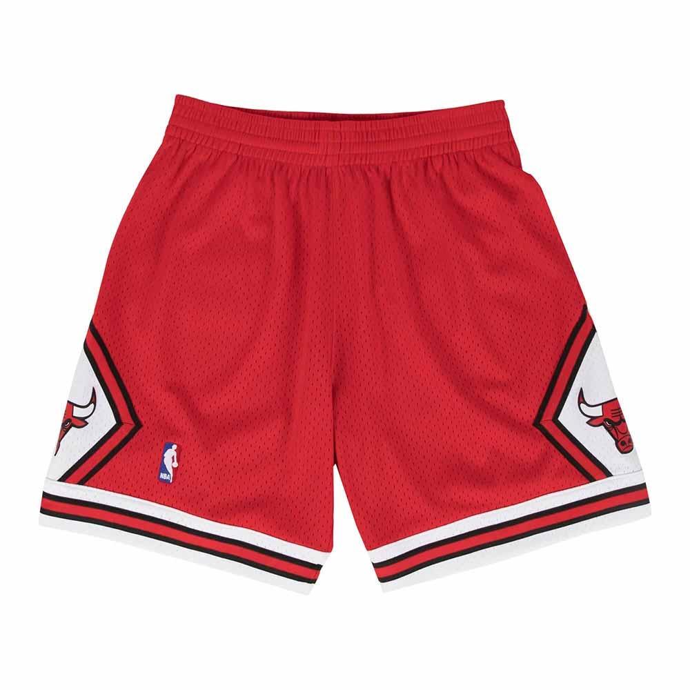 M&N G2二代 Swingman復古球褲 公牛隊 97-98 紅色