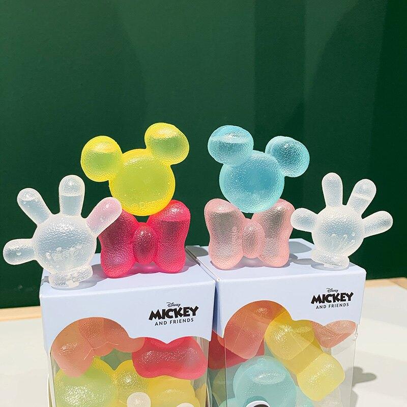 可循環使用冰格 專柜正品米奇蝴蝶結重復彩色冷凍冷飲凍冰塊套裝