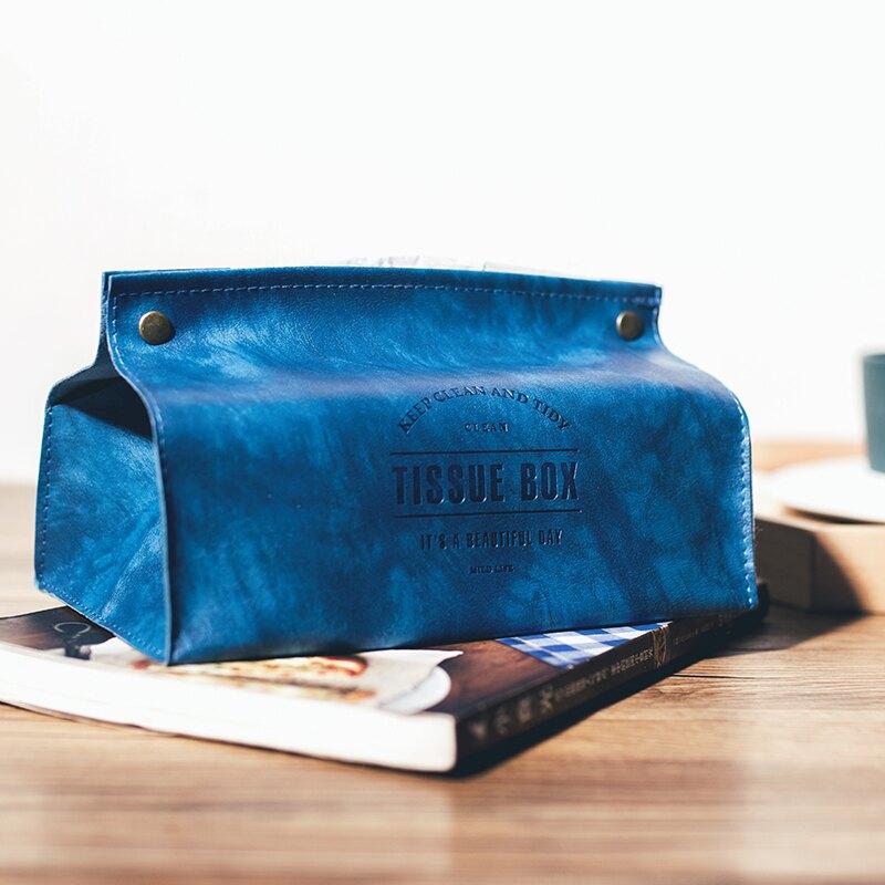 ins北歐風皮革質抽紙盒車載用客廳餐廳衛生間紙巾包車載紙巾套袋
