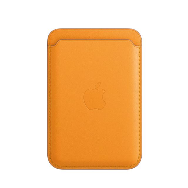 iPhone MagSafe 皮革卡套 - 加州罌粟色 - California Poppy (MHLP3FE/A)