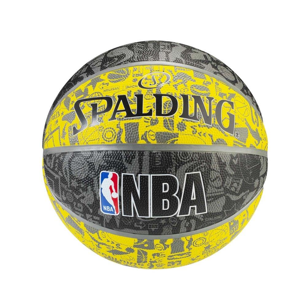SPALDING 斯伯丁 NBA 街頭塗鴉系列 黃色 7號籃球