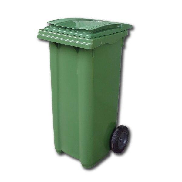 西瓜籽 綠色 二輪拖桶(120公升)RB-120G 氣壓式上蓋 廚餘桶 回收桶 垃圾桶 托桶 工廠 餐廳 回收場