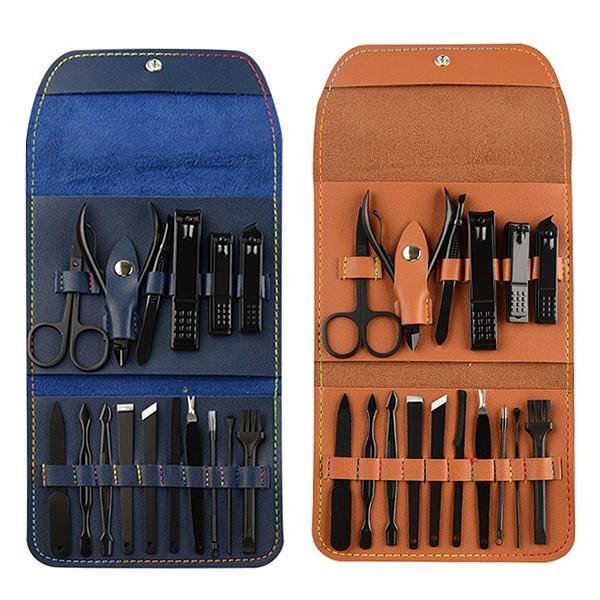 A5110 專業16件修容組/旅行攜帶式多功能修甲組/指甲剪銼刀耳扒修容工具/贈品禮品