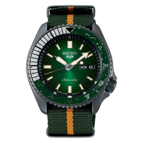 【SEIKO】精工 5 Sports 系列 火影忍者聯名 潛水機械錶 SRPF73K1 李洛克 小李 42.5mm 綠