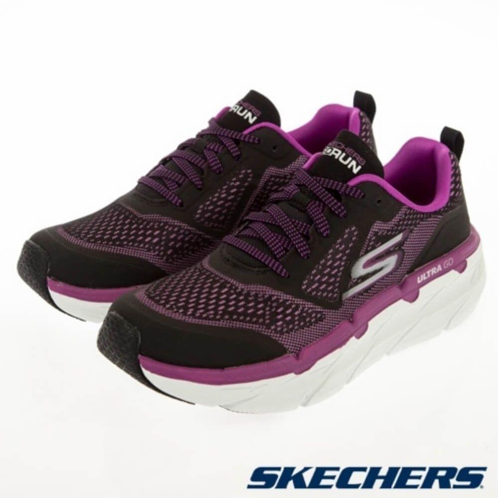 SKECHERSGORUN MAX CUSHIONING PREMIER寬楦款 女 慢跑鞋 黑紫