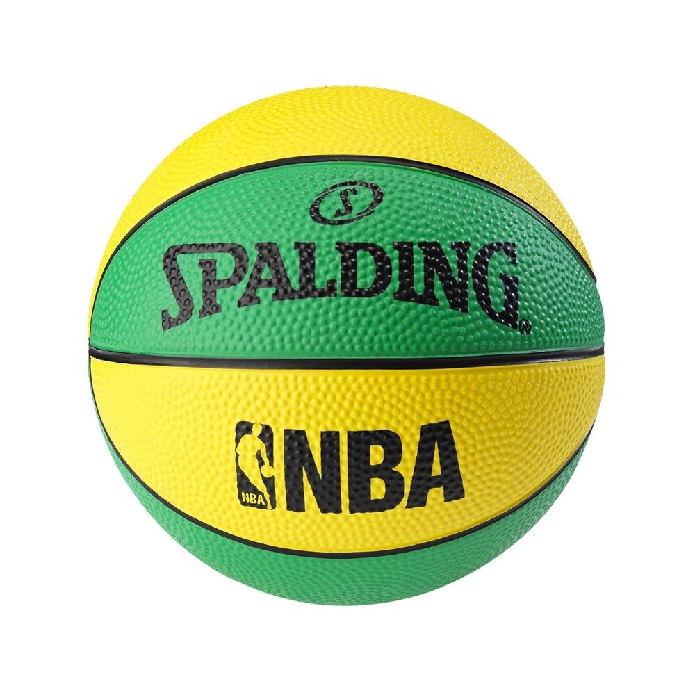 SPALDING 斯伯丁 NBA No.1迷你小球 黃/綠 1號籃球