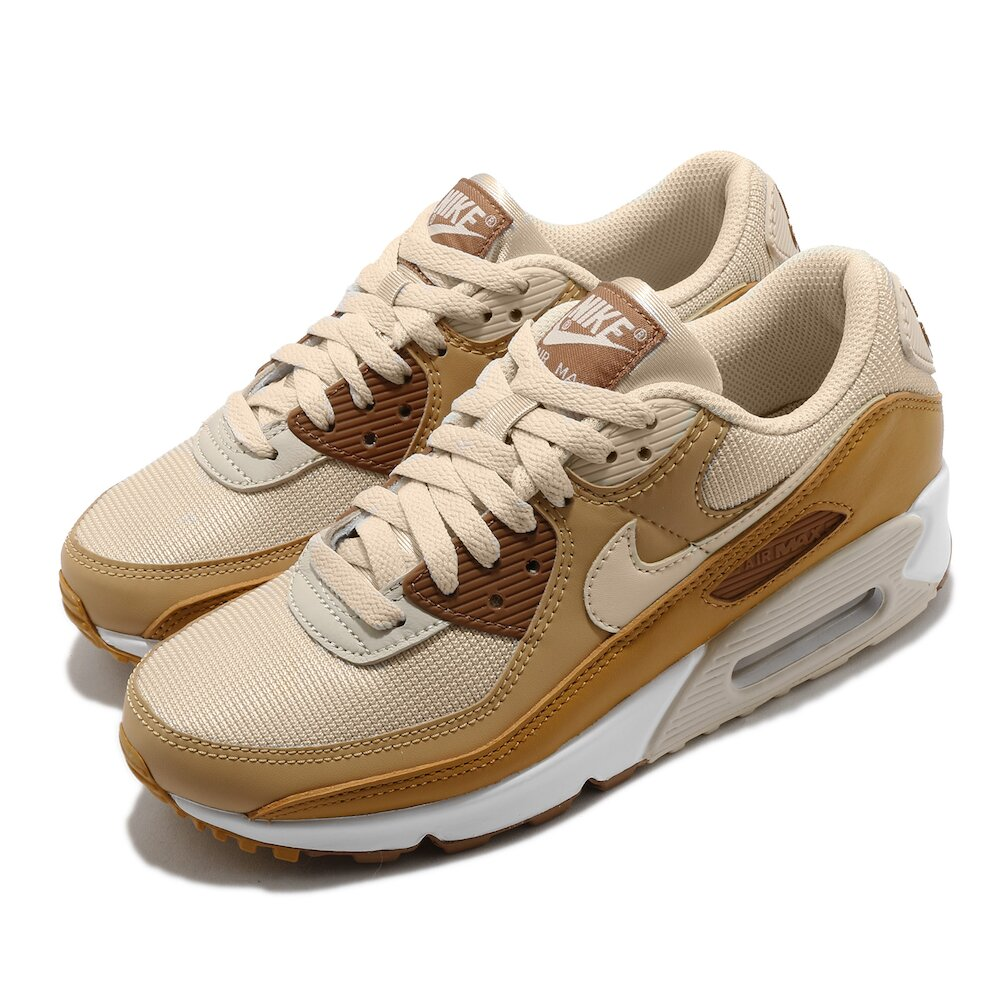 NIKE 休閒鞋 Air Max 90 運動 女鞋 經典款 氣墊 舒適 避震 簡約 穿搭 棕 白 [CZ3950-101]