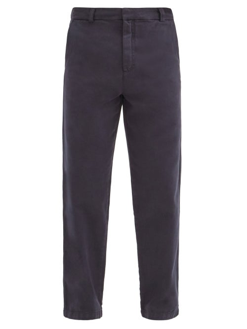 Another Aspect - Garment-dyed Cotton-twill Chino Trousers - Mens - Navy