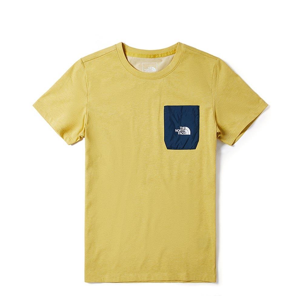 The North Face 男 吸濕排汗短袖上衣 黃色