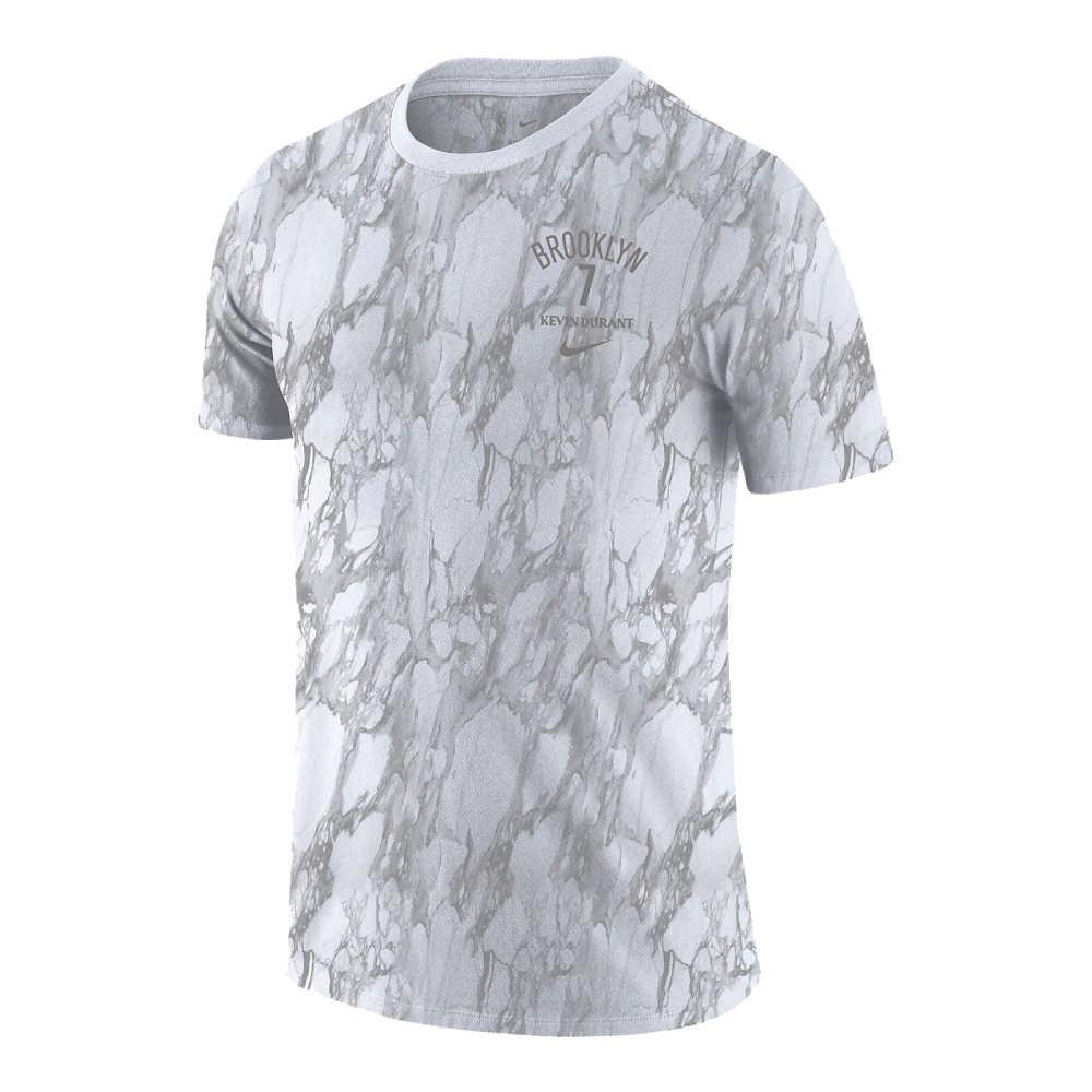 NIKE NBA 大理石紋 MVP 短袖T恤 籃網隊 Kevin Durant 白色
